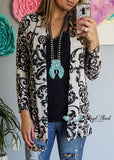 Damask Fairytale Cardigan - Cream [product type] - Angel Heart Boutique