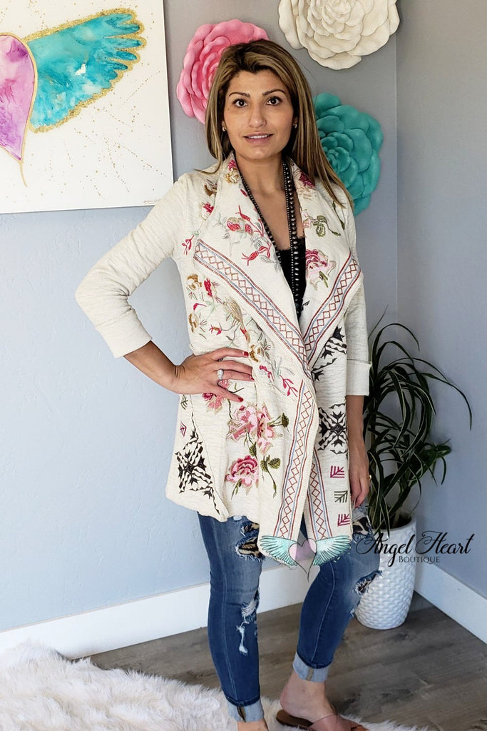 AHB EXCLUSIVE - My Beauty Cardigan - Natural [product type] - Angel Heart Boutique