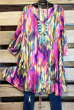 All These Emotions Tunic - Fuschia