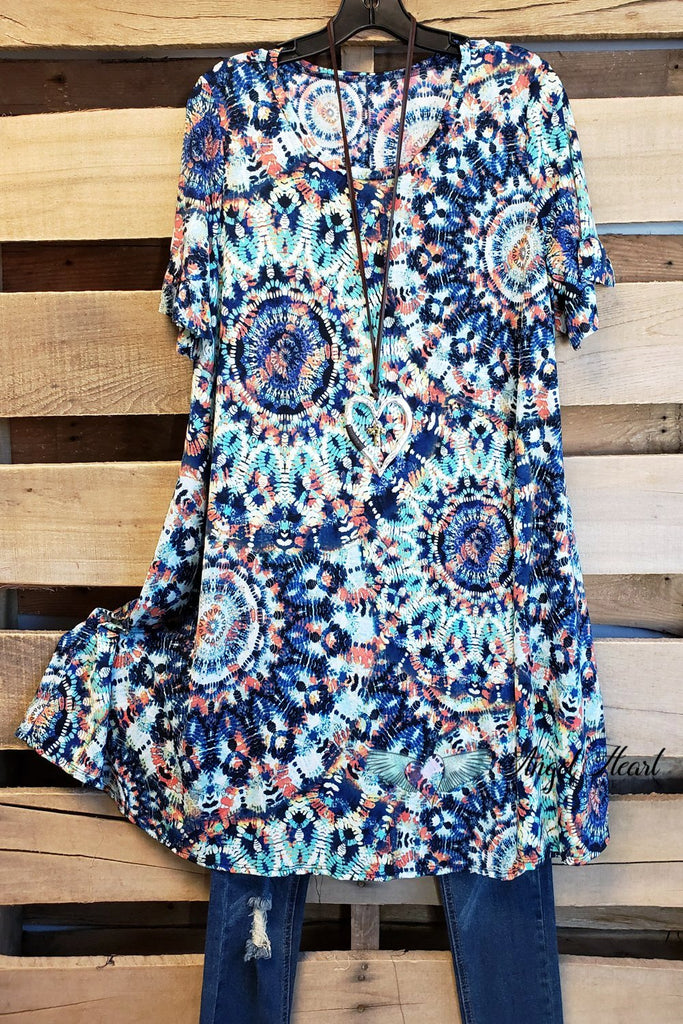 On Request Tunic - Blue Mix [product type] - Angel Heart Boutique