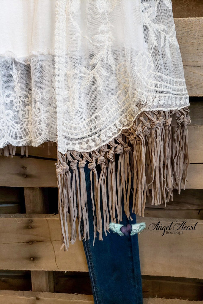 AHB EXCLUSIVE - Wild At Heart Kimono - Natural [product type] - Angel Heart Boutique