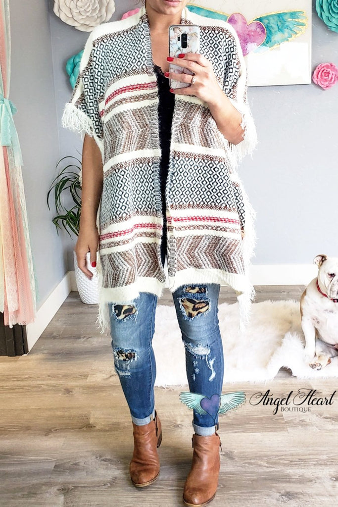 Truth Be Told Shawl Kimono - White [product type] - Angel Heart Boutique