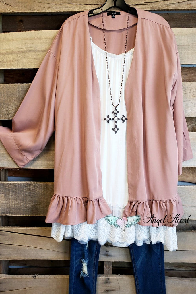 Good Heart Cardigan - Dusty Rose [product type] - Angel Heart Boutique