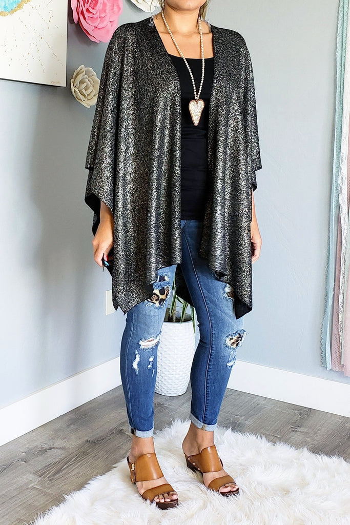 Night Out Silver Shawl [product type] - Angel Heart Boutique