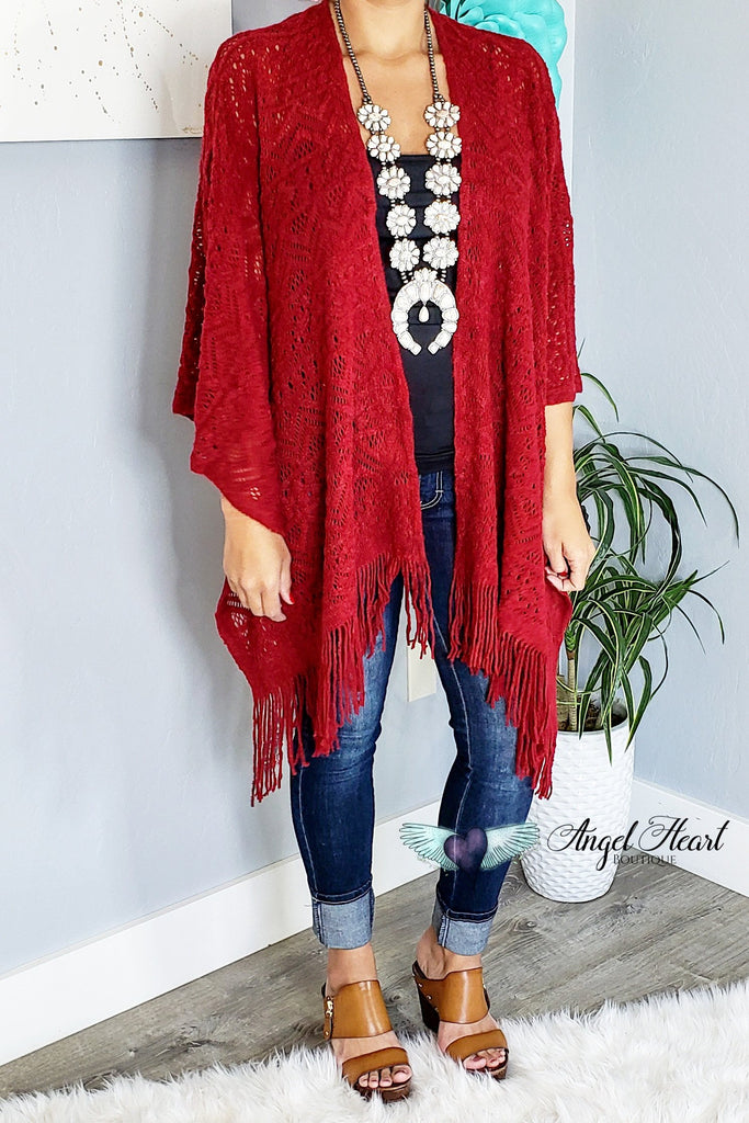 My Favorite Fall Piece Shawl - Red