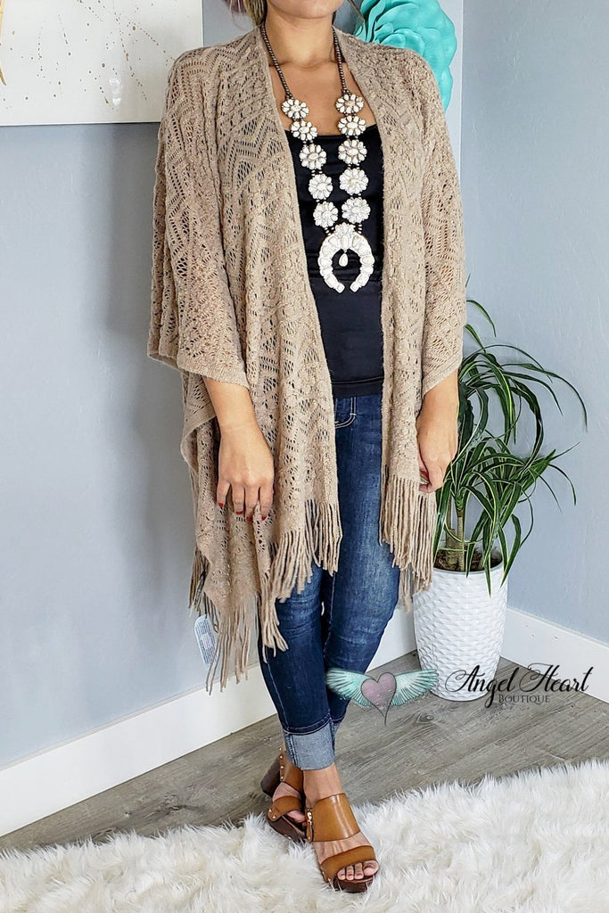 My Favorite Fall Piece Shawl - Taupe