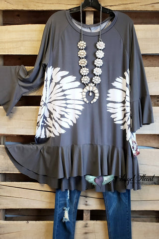 Fall In Love Tunic - Black