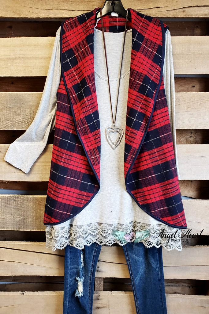 My Weekend Vest - Red/Blue Mix