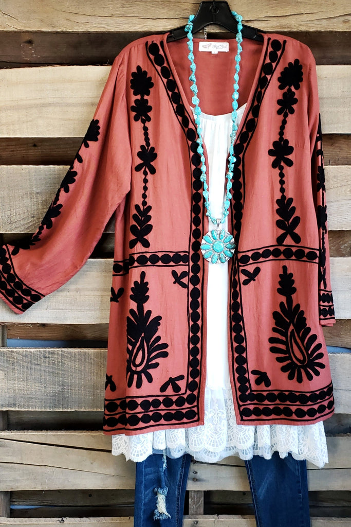 AHB EXCLUSIVE - Moon Light Cardigan - Rust [product type] - Angel Heart Boutique
