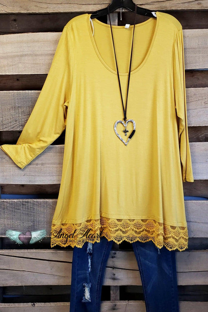 Any Occasion Tunic - Mustard [product type] - Angel Heart Boutique