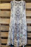 Country Charm Long Vest - Grey [product type] - Angel Heart Boutique