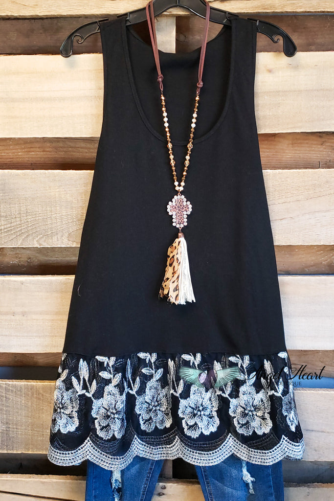 On My Wishlist Tank Top - Black [product type] - Angel Heart Boutique
