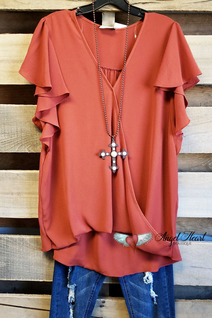 Rare Feelings Top - Rust [product type] - Angel Heart Boutique