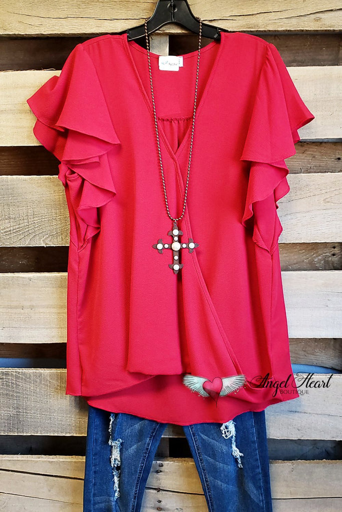 Rare Feelings Top - Red [product type] - Angel Heart Boutique