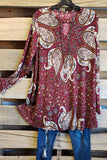 Sweet Intentions Tunic - Burgundy