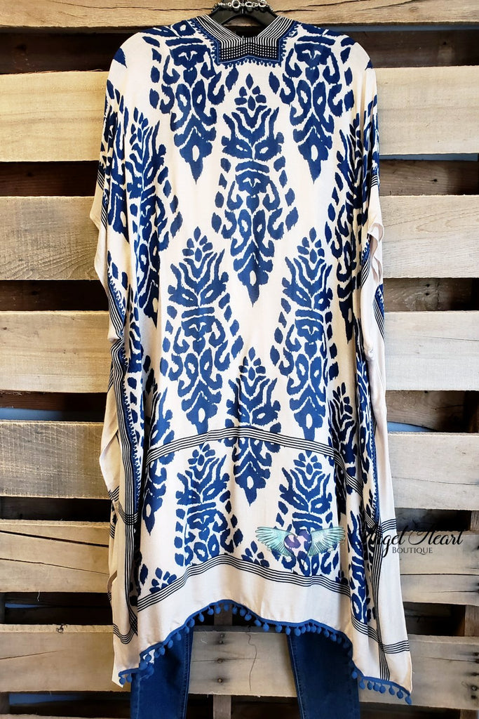 Bali Intentions Kimono - Navy [product type] - Angel Heart Boutique