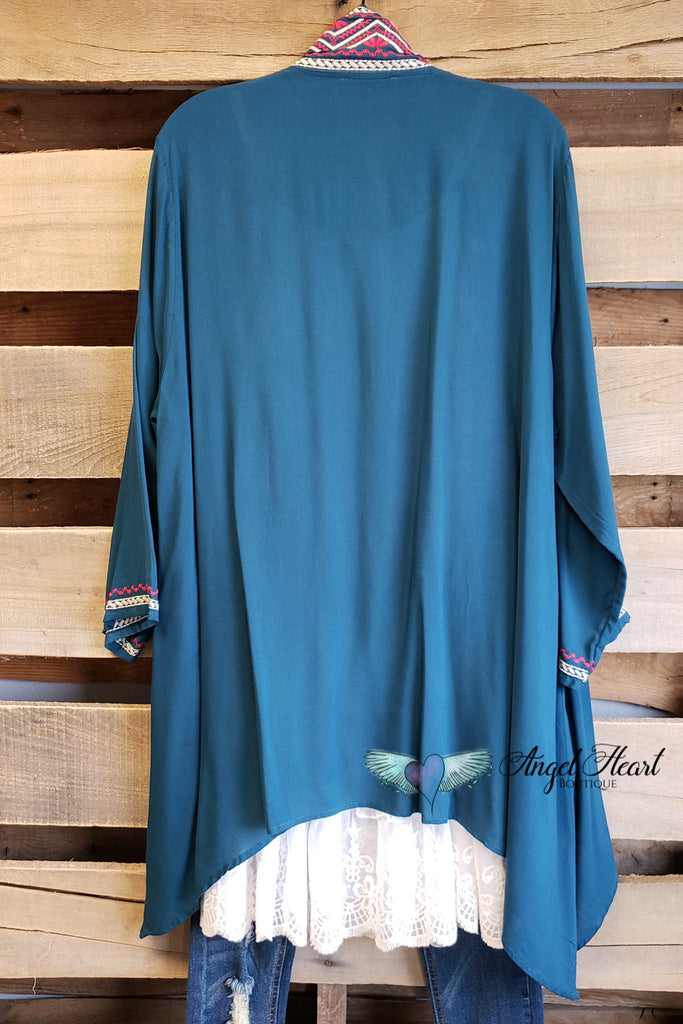 AHB EXCLUSIVE: Long Time Favorite Cardigan - Teal