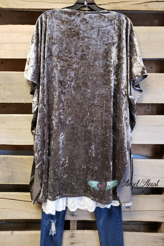 Velvet Dream Kimono - Olive [product type] - Angel Heart Boutique