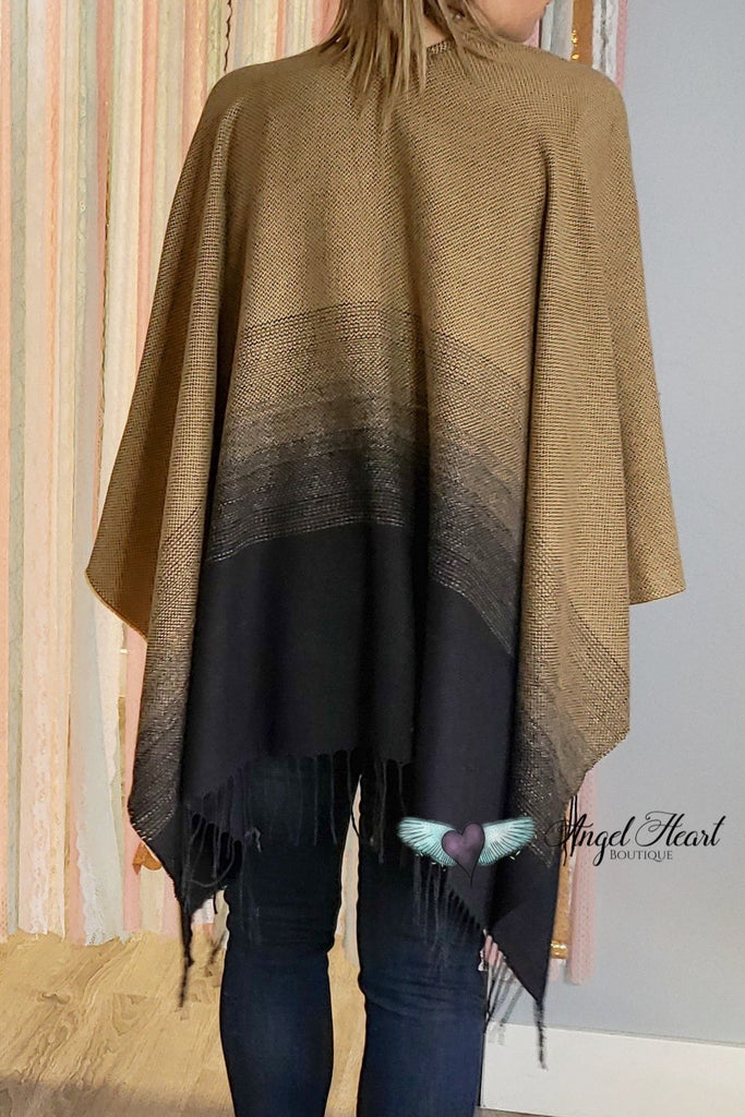 Degrade Poncho - Mustard [product type] - Angel Heart Boutique