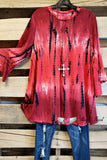 Out in The Country Top - Red [product type] - Angel Heart Boutique