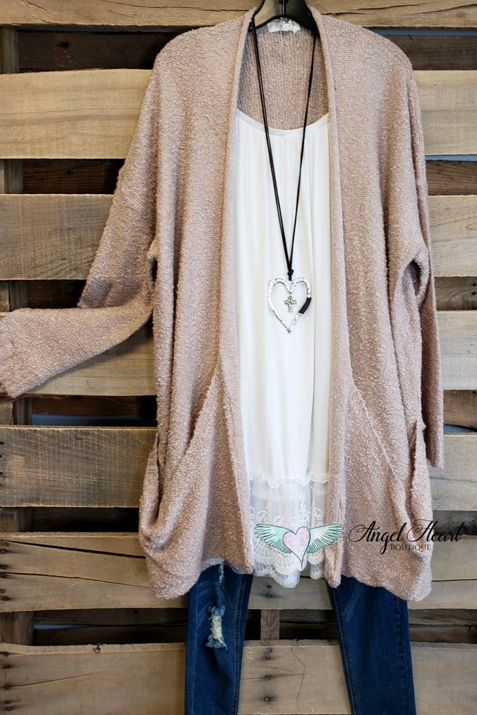 Happy As Ever Cardigan - Mauve [product type] - Angel Heart Boutique