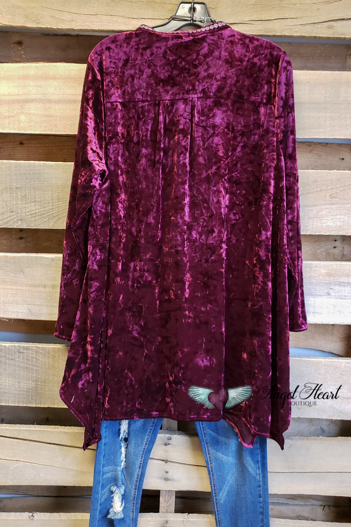 Dream About Me Velvet Top - Marsala [product type] - Angel Heart Boutique
