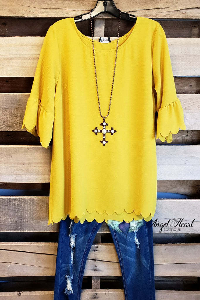 My Classic Everyday Top - Light Mustard [product type] - Angel Heart Boutique