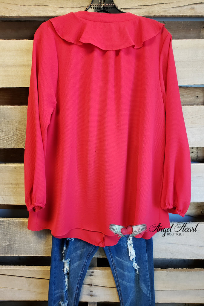 Pretty Woman Top - Red [product type] - Angel Heart Boutique