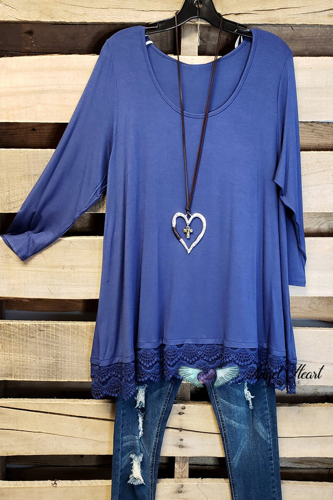 Any Occasion Tunic - Indigo Blue [product type] - Angel Heart Boutique