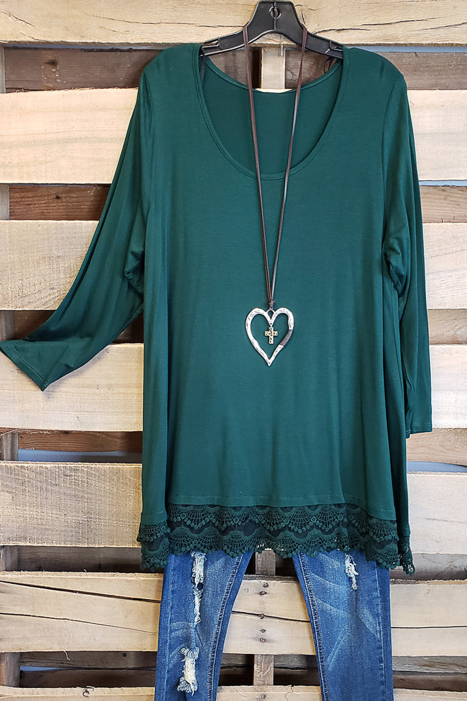 Any Occasion Tunic - Hunter Green [product type] - Angel Heart Boutique