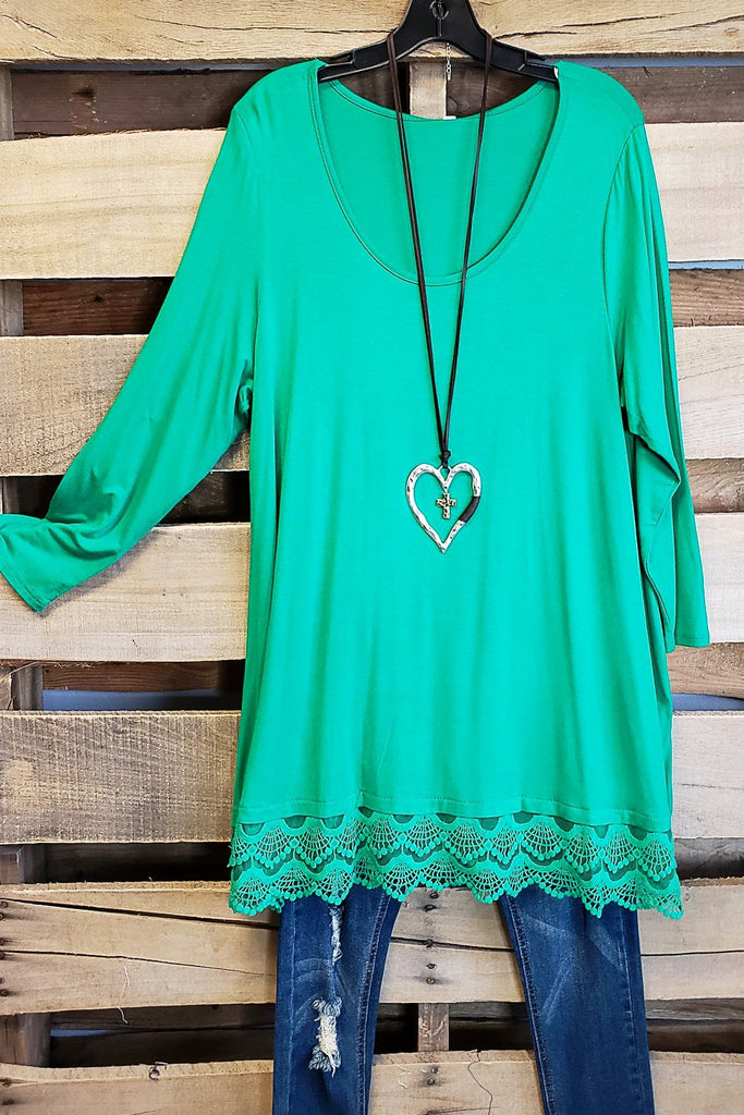 Any Occasion Tunic - Kelly Green [product type] - Angel Heart Boutique