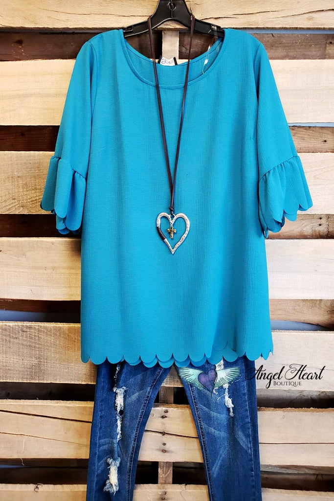 My Classic Everyday Top - Teal [product type] - Angel Heart Boutique