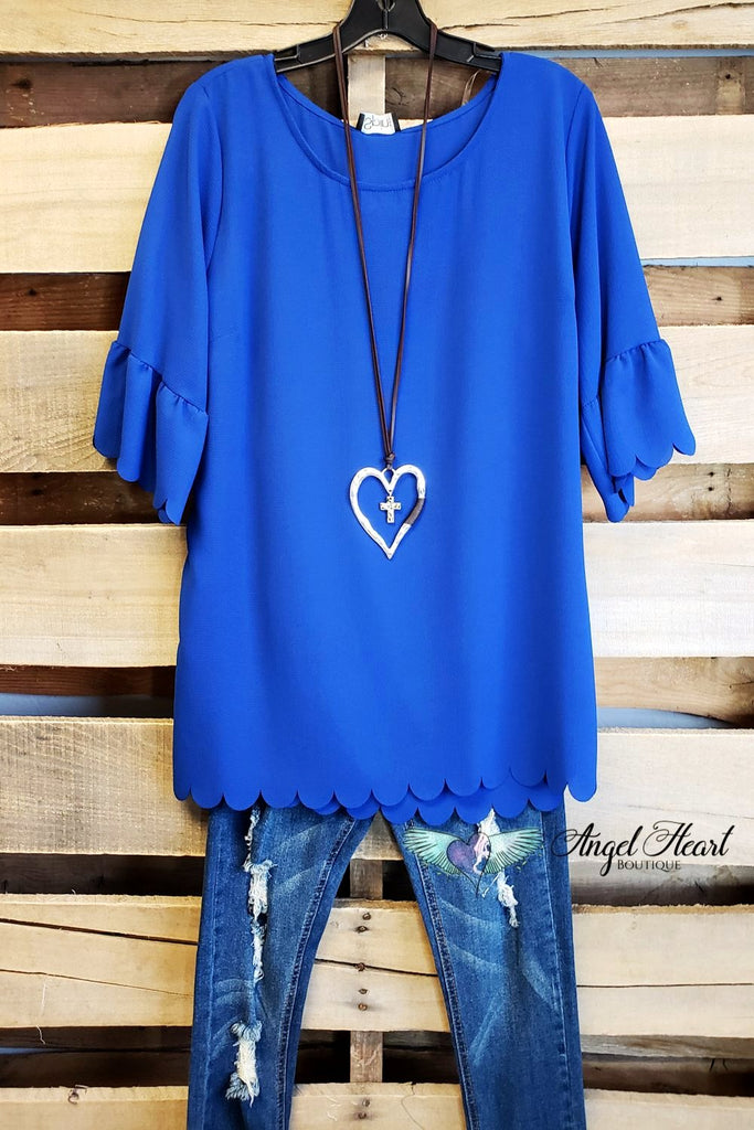 My Classic Everyday Top - Royal Blue [product type] - Angel Heart Boutique