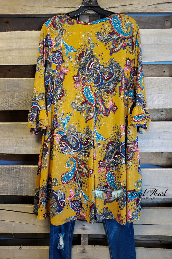 Hope For Something Tunic - Mustard