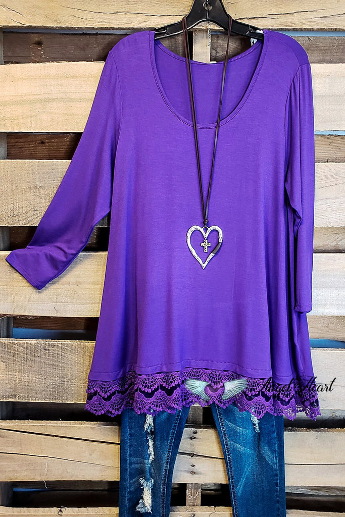Any Occasion Tunic - Purple [product type] - Angel Heart Boutique