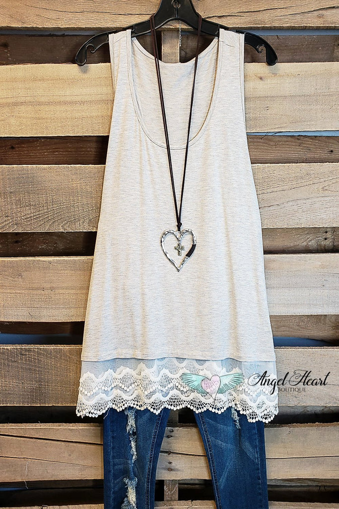 Extender: Slip on Tank/Tunic - Oatmeal [product type] - Angel Heart Boutique