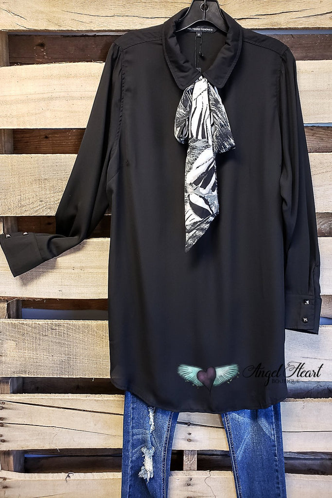 Bow Tie Top - Black [product type] - Angel Heart Boutique