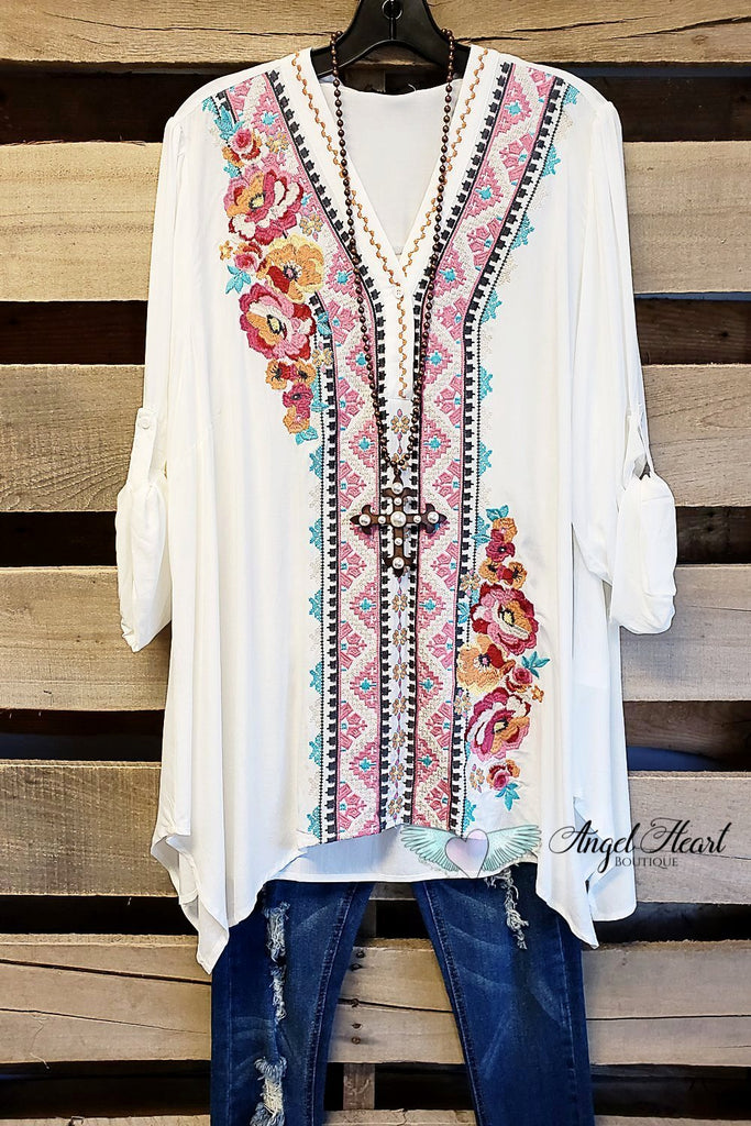 Keep it My Way Top - Ivory [product type] - Angel Heart Boutique