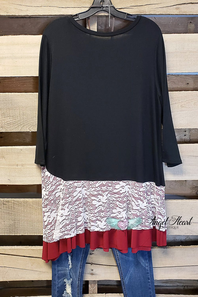 Playing The Part Tunic-Black- SALE