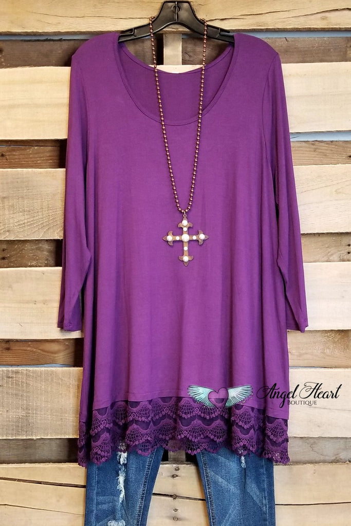 Any Occasion Tunic - Eggplant