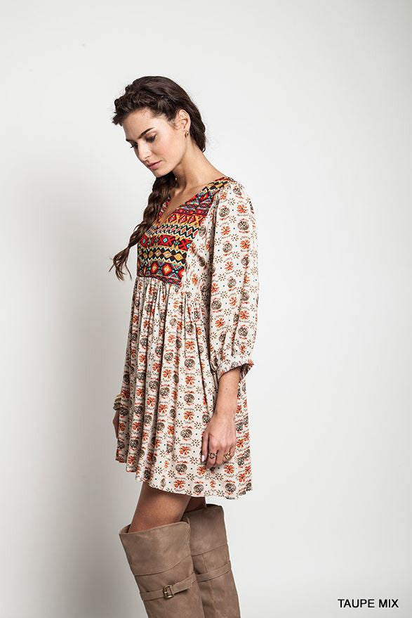Navajo Winter Moon Top - Taupe - Umgee - Dress - Angel Heart Boutique  - 6
