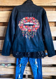 Cool & Chic Embroidered Jacket - Black