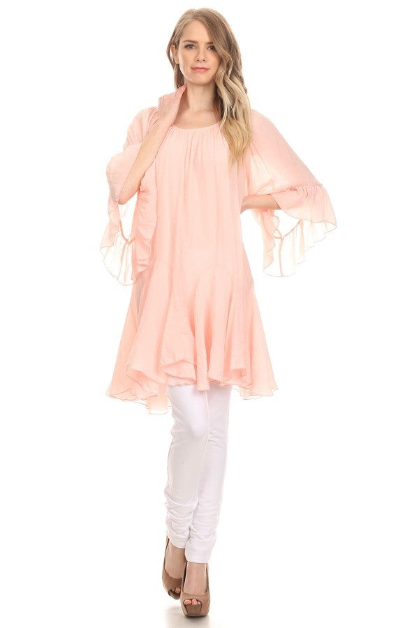 The It Girl Tunic - Pink - Sassybling - Tunic - Angel Heart Boutique  - 3