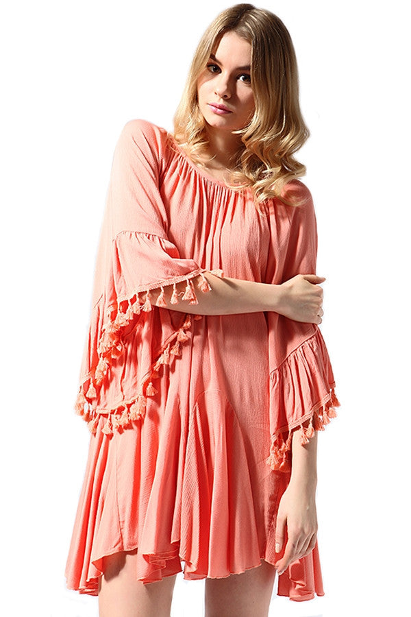 Spice Up Your Life Tunic - Peach - Sassybling - Tunic - Angel Heart Boutique  - 2