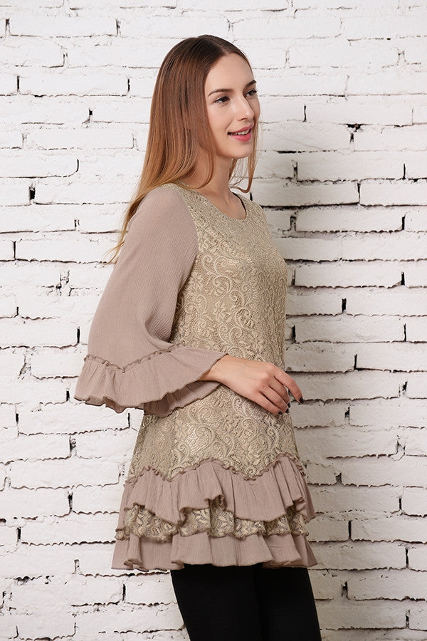 Fab Intuition Tunic - Mocha - Angel Heart Boutique - Tunic - Angel Heart Boutique  - 4