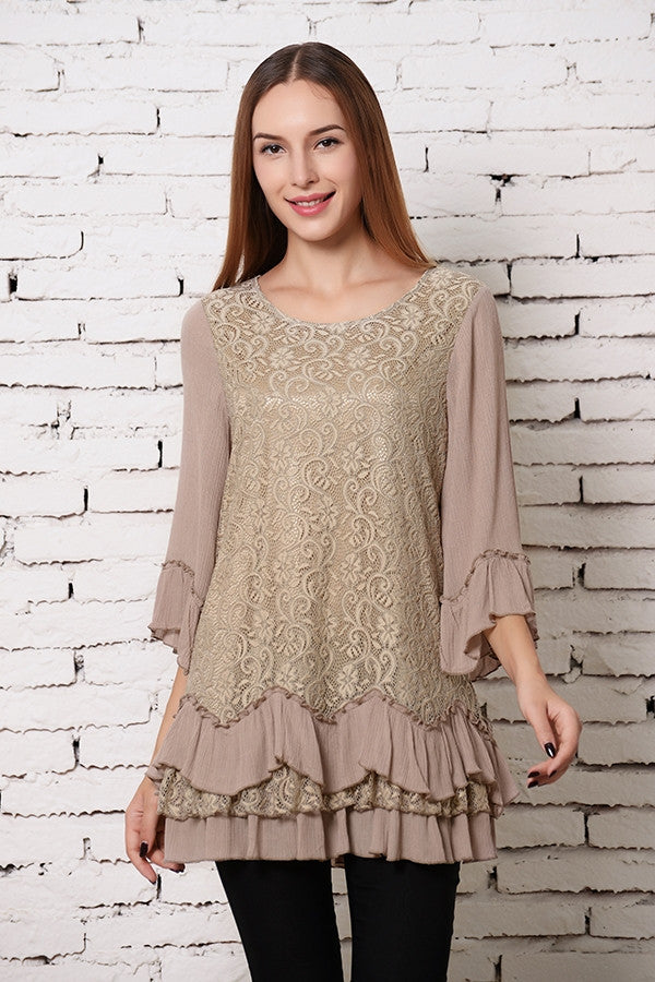 Fab Intuition Tunic - Mocha - Angel Heart Boutique - Tunic - Angel Heart Boutique  - 3