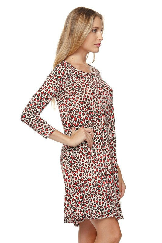 Wild For You Tunic - Leopard/Red - Angel Heart Boutique - Tunic - Angel Heart Boutique  - 5