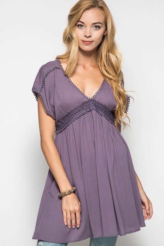 Summer Breeze Dress - Lilac - She+Sky - Dress - Angel Heart Boutique  - 1