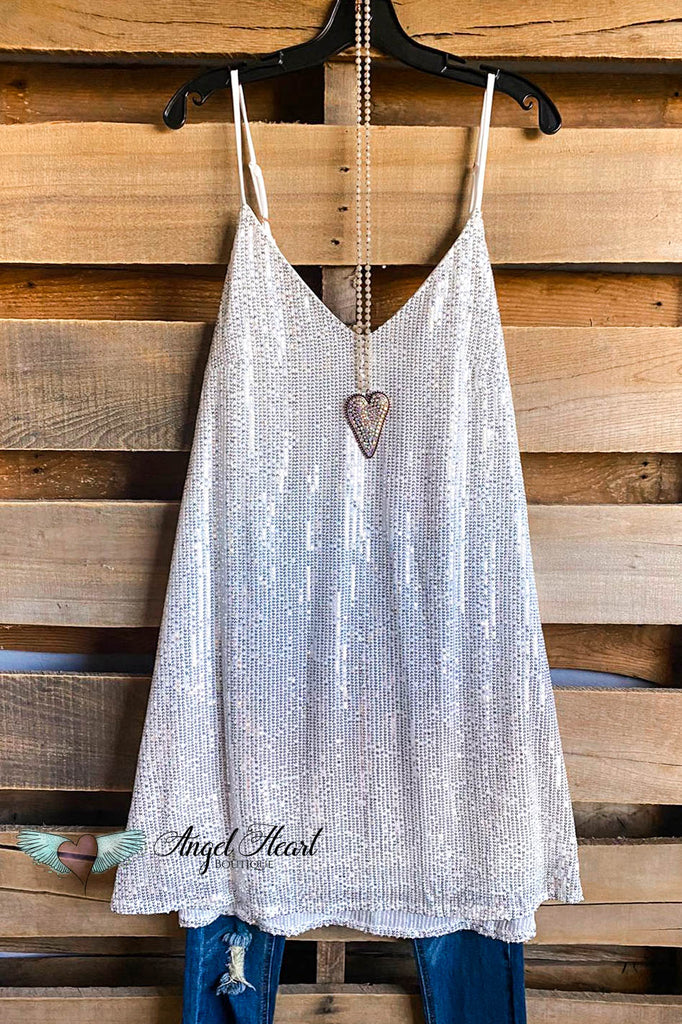 Smiling Night Dress - Silver