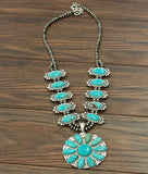 AUTHENTIC TURQUOISE STONE -Kalil Necklace